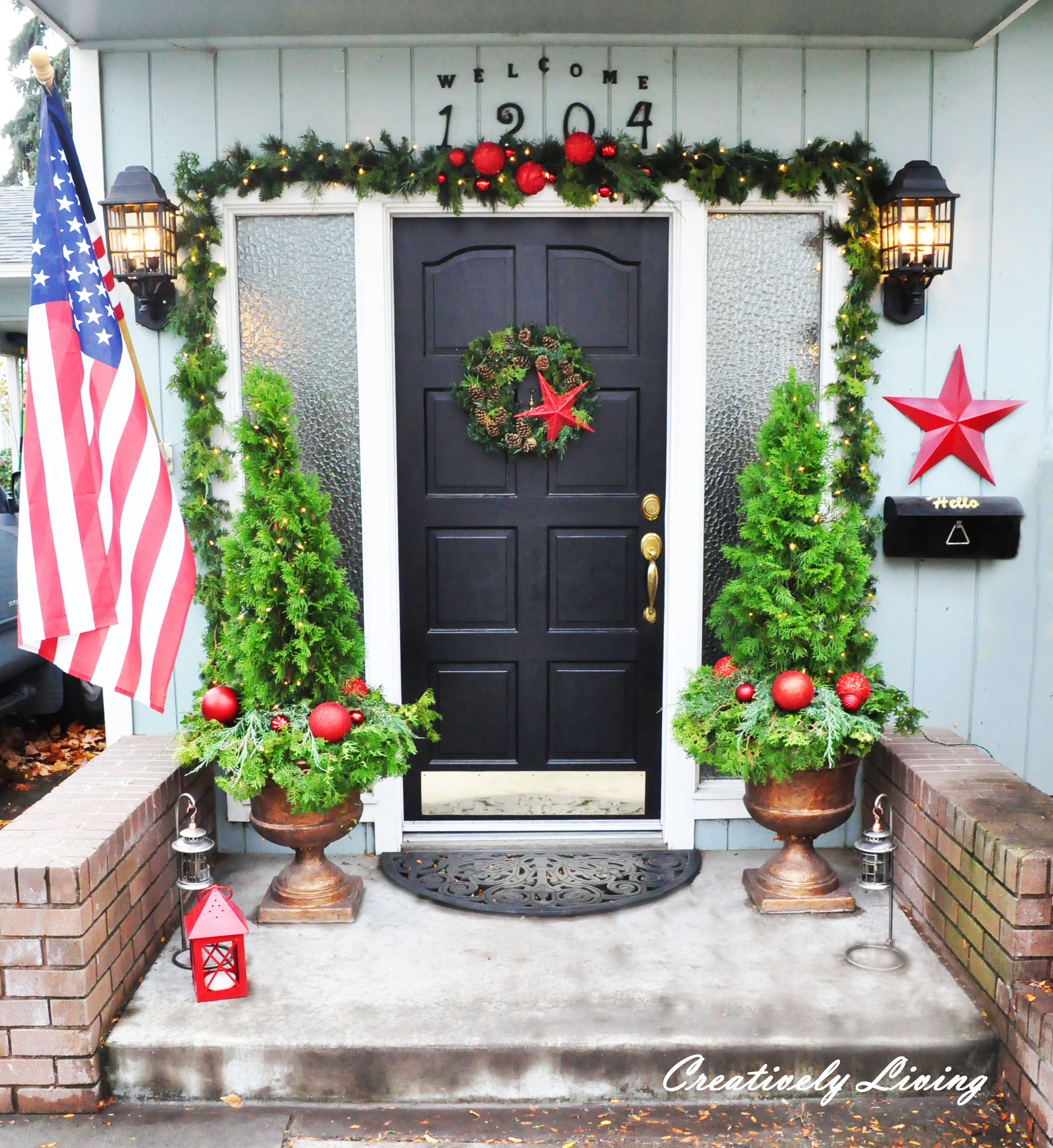 add christmas trees - How To Decorate Your Door For Christmas
